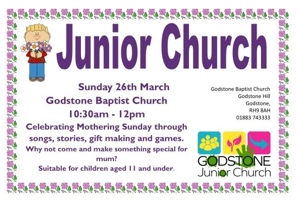 Junior Church 26th March 2017