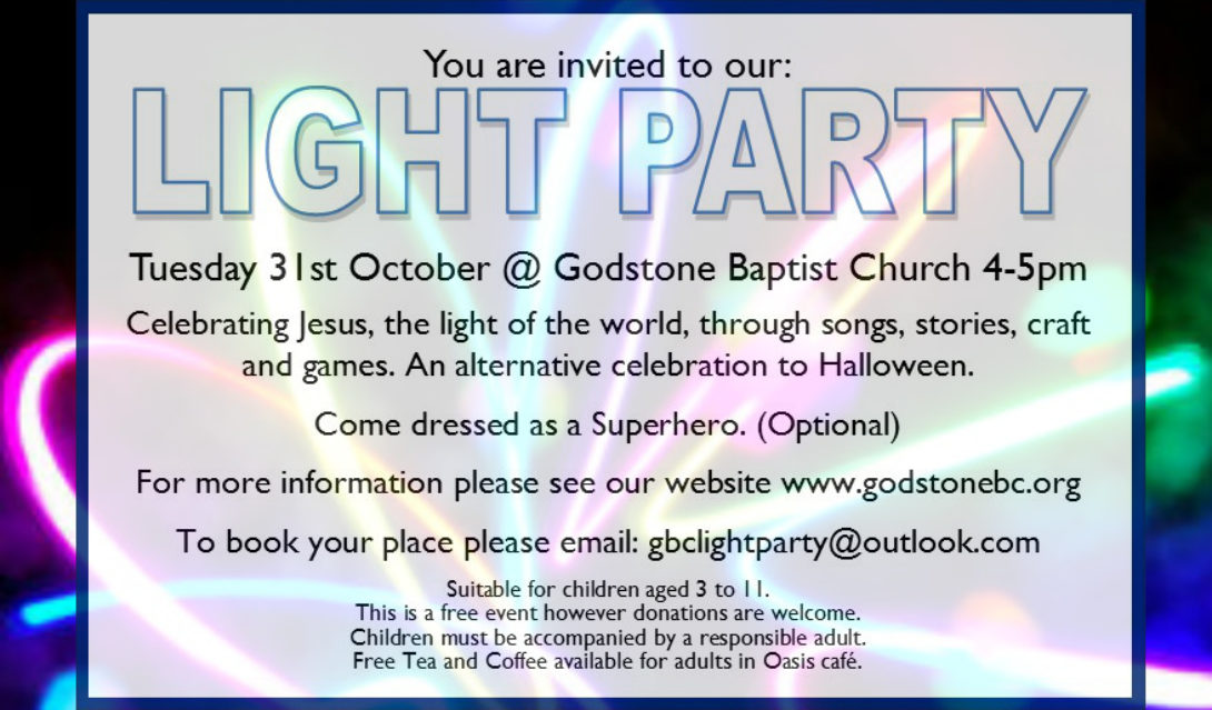 Light Party 31st Oct 2017 Godstone Baptist Church